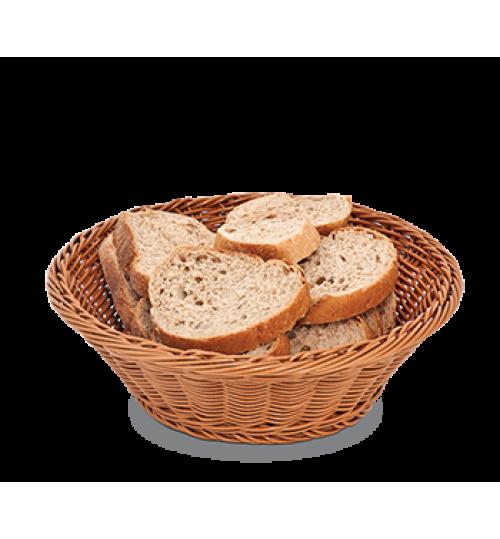 Rattan Yuvarlak Ekmek Sepeti