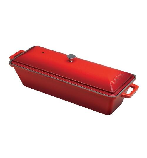 Lava Ahşap Standlı Döküm Demir  Ekmek Kabı, Terrine 8,5×26,5 cm