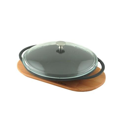 Lava Cam Kapaklı Döküm Demir Sac Kavurma Tavası Çap (Ø) 28 cm