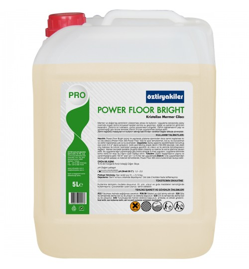 POWER FLOOR BRIGHT KRİSTALİZE MERMER, DOĞAL TAŞ CİLASI  5L