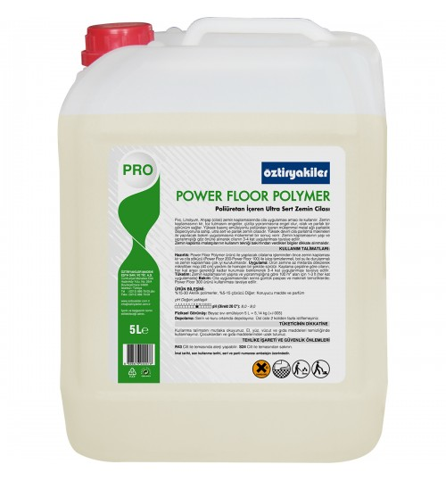 POWER FLOOR POLYMER ULTRA SERT VE PARLAK ZEMİN CİLASI  5L